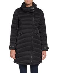 French connection Mixedquilt Puffer Coat - Lyst