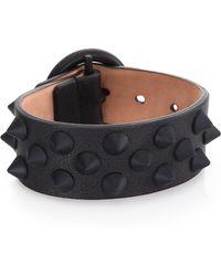 Alexander McQueen | Sport Spiked Leather Cuff Bracelet | Lyst