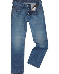 G-star Raw Defend Slim Leg Hydrite Dark Wash Jeans - Lyst