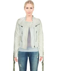 Somedays Lovin Dex Leatherette With Fringe Jacket - Lyst