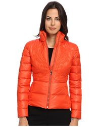 Versace Down Jacket With Embroidered Detail - Lyst