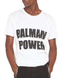 Balmain | Power Tee | Lyst