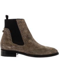 Balenciaga Brogues Suede Chelsea Boots - Lyst