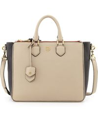 Tory Burch Robinson Double-zip Square Tote Bag - Lyst