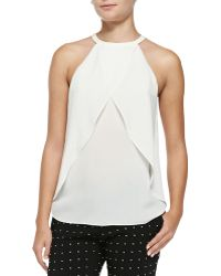 A.L.C. Iggy Sleeveless Layered Silk Top - Lyst