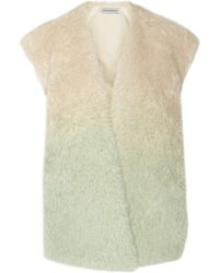 Vika Gazinskaya - Dégradé Over Sized Alpaca and Mohair Blend Vest - Lyst