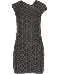 Missoni Crochet-Knit Wool-Blend Mini Dress - Lyst