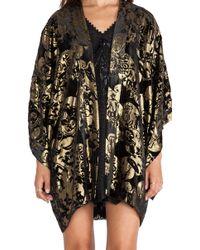 Anna Sui Village Burnout Velvet Kimono - Lyst