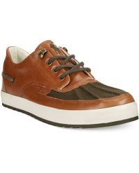 Polo Ralph Lauren Ramiro Leather And Canvas Sneakers - Lyst
