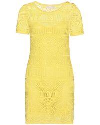 Emilio Pucci Crochet-Knit Dress - Lyst