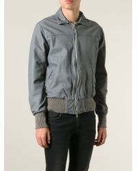 Wlg By Giorgio Brato - Leather Zipped Jacket - Lyst