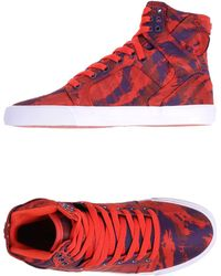 Supra High-Tops & Trainers red - Lyst