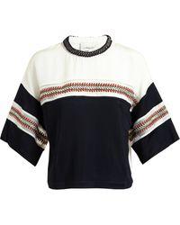 3.1 Phillip Lim Braided Detail Contrasting Fabric Top - Lyst