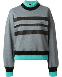 Jonathan Saunders Striped Sweater - Lyst
