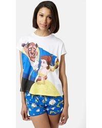 Topshop Beauty & The Beast Pajama Set - Lyst