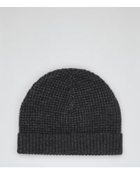 Reiss Ricky Chunky Knit Beanie Hat - Lyst