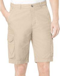 Calvin Klein Twill Cargo Shorts - Lyst
