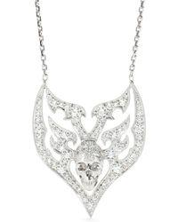 Stone Paris - 18kt White Gold Sympathy For The Devil Necklace - Lyst