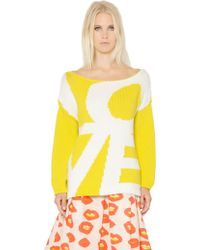 Essentiel - Oversized Cotton Blend Jacquard Sweater - Lyst