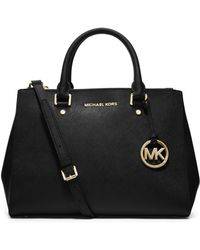 MICHAEL Michael Kors | Sutton Medium Saffiano Leather Satchel | Lyst