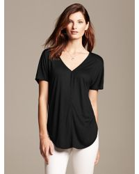 Banana Republic Piped Tunic Tee - Lyst