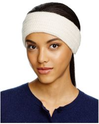 C By Bloomingdale's - Cashmere Ribbed Headband - Lyst