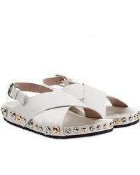 Marc Jacobs Embellished Leather Sandals - Lyst