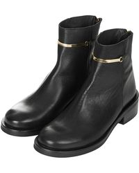 Topshop Womens Arther Ankle Boots Black - Lyst