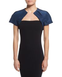 Monique Lhuillier - Structured Silk-Faille Bolero - Lyst