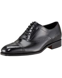 Ferragamo Caesy Captoe Oxford Black - Lyst