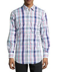 Peter Millar Plaid Button-collar Shirt - Lyst