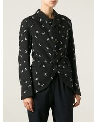Comme Des Garçons Embroidered Blazer - Lyst