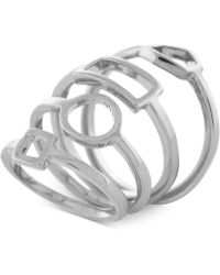 Vince Camuto - Silver-tone Shape Stack Ring - Lyst