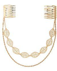 Cara | Leaf Hair Drape - Metallic | Lyst