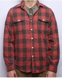 Faherty Brand Red Belmar Workshirt - Lyst