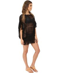 Trina Turk French Lace Cover-Up black - Lyst