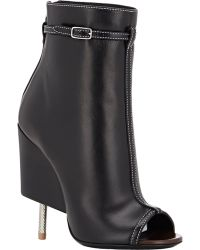 Givenchy Screw-Heel Booties - Lyst