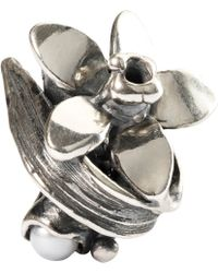 Trollbeads - Sterling Silver Narcissus Of December With Pearl Bead - Lyst