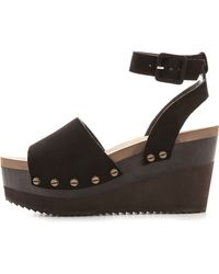 Flogg | Poppi Platform Sandals - Black | Lyst