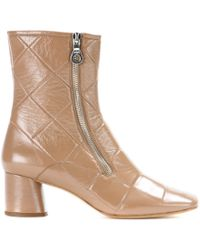 Marc Jacobs Patentleather Ankle Boots - Lyst