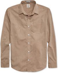 Volcom Weirdoh Solid Long-sleeve Shirt - Lyst