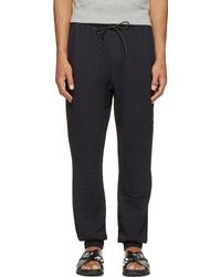 Balmain Black Quilted Lounge Pants - Lyst