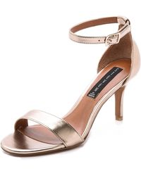 Steven by Steve Madden Vienna Metallic Sandals - Gold - Lyst