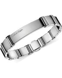 Calvin Klein -  Mens Stainless Steel Polished Link Bracelet - Lyst