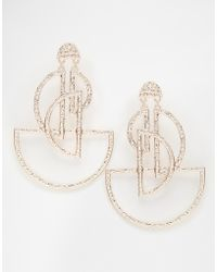 ASOS | Open Semi Circle Chandelier Earrings | Lyst
