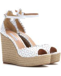Tabitha Simmons Harp Wedge Sandals - Lyst