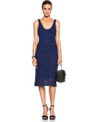 Proenza Schouler Open Crochet Knit Tank Dress - Lyst