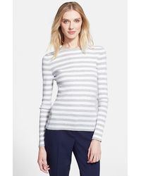 Michael Kors Stripe Crewneck Sweater - Lyst