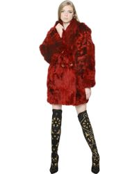 Versace Alpaca Wool Fur Coat - Lyst