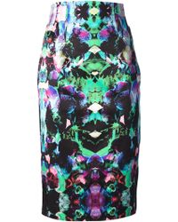 Milly Printed Skirt - Lyst